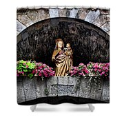 Madonna And Child Arch Shower Curtain