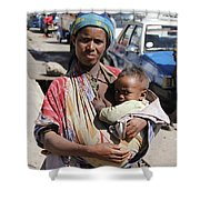 Madonna Of Addis Ababa  Shower Curtain