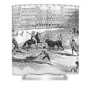 Madrid: Bullfight, 1846 Shower Curtain