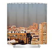 Madrid Cityscape Shower Curtain