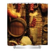 Madrid Food And Wine Still Life II Shower Curtain