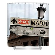Madrid Street Sign Shower Curtain