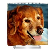 Maggies Smile Shower Curtain by Karen Wiles