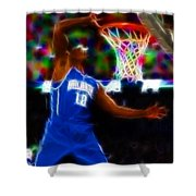 Magical Dwight Howard Shower Curtain by Paul Van Scott