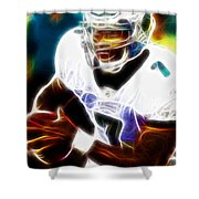 Magical Michael Vick Shower Curtain by Paul Van Scott
