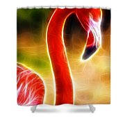 Magical Pink Flamingo Shower Curtain