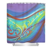 Magical Wave Water Shower Curtain by Reina Cottier