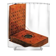 Magnetic Compass Shower Curtain