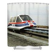 Magnetic Levitation Train Shower Curtain