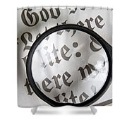 Magnifying News Shower Curtain