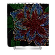 Magnolia Abstract Sketch Shower Curtain