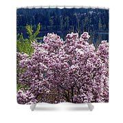 Magnolia By The Lake Shower Curtain