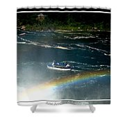 Maid Of The Mist And Rainbow At Niagara Falls Shower Curtain