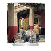 Maidens In A Classical Interior Shower Curtain