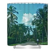 Mail Delivery In Paradise Shower Curtain