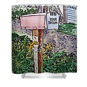 Mailbox Sketchbook Project Down My Street Shower Curtain by Irina Sztukowski