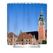 Main Railway Station In Gdansk Shower Curtain