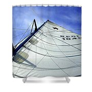 Main Sail Shower Curtain