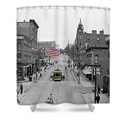 Main Street America Shower Curtain