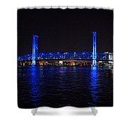 Main Street Bridge At Night Shower Curtain