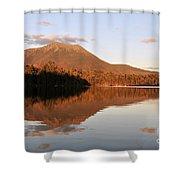 maine 25 Baxter State Park Mt. Khatahdin Reflection in Daicey Pond Shower Curtain