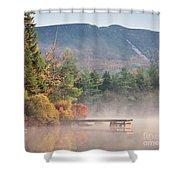 maine 26 Baxter State Park Mt. Khatadin Morning Mist on Daicey Pond Shower Curtain