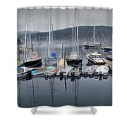 Maine Harbor Shower Curtain