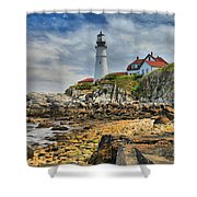 Maine Head Light Shower Curtain