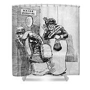 Maine: Womens Suffrage Shower Curtain