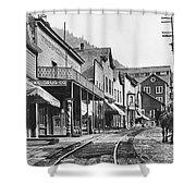 Mainstreet Burke Ghost Town - Idaho Shower Curtain