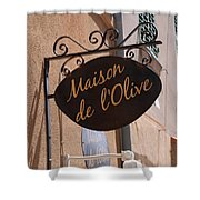 Maison De L'olive Shower Curtain