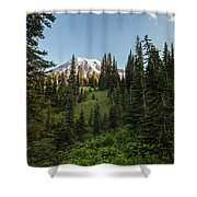 Majestic Rainier Shower Curtain