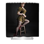 Major Trouble 477 Shower Curtain