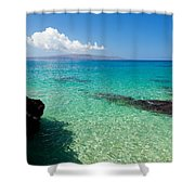 Makena Turquoise Shower Curtain