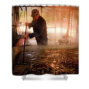 Makin' Molasses Shower Curtain by Tamyra Ayles