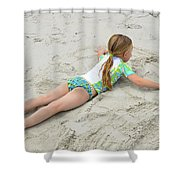 Making A Sand Angel Shower Curtain