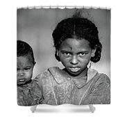 Malagasy Children Shower Curtain