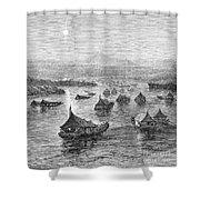 Malaya: Perak River, 1876 Shower Curtain