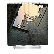 Malcesine Castle-lago Di Garda Shower Curtain