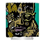 Malcolm X Full Color Shower Curtain