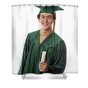 Male Graduate Shower Curtain
