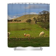 Mallerstang Dale In Cumbria Uk Shower Curtain