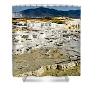 Mammoth Hot Springs Terraces Shower Curtain