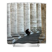 Man And Columns Shower Curtain