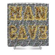 Man Cave Coin Mosaic Shower Curtain by Paul Van Scott
