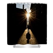 Man In Backlight Shower Curtain