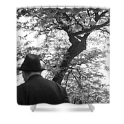 Man In Hat Shower Curtain