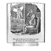 Man In The Moon, 1833 Shower Curtain by Granger