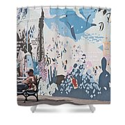 Man Sunning Shower Curtain