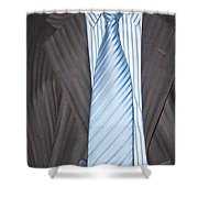 Man Wearing A Suit And Tie Shower Curtain